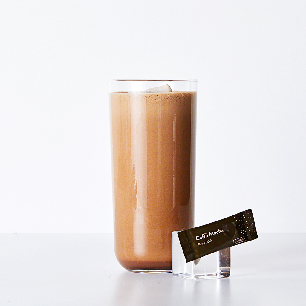 blended mocha gainful shake
